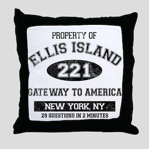 Ellis Island Throw Pillow