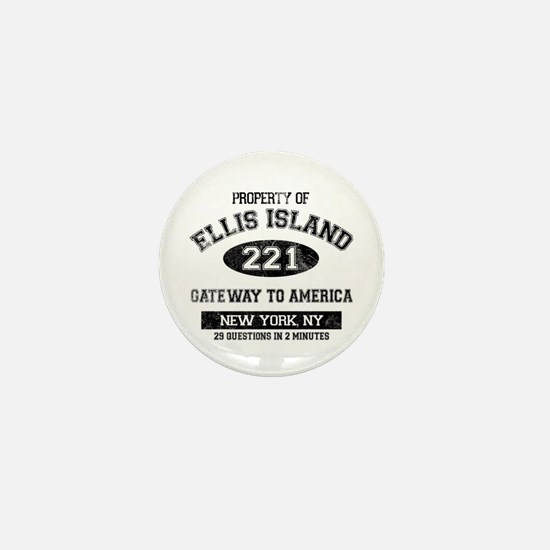 Ellis Island Mini Button