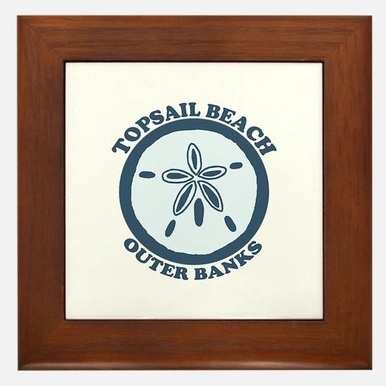 Topsail Beach - Sand Dollar Design Framed Tile