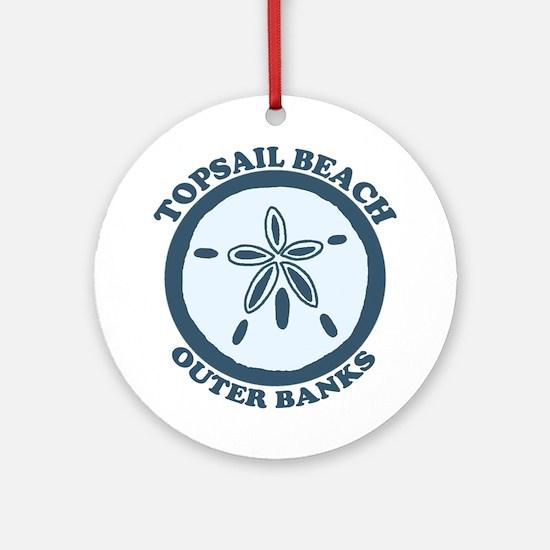 Topsail Beach - Sand Dollar Design Ornament (Round