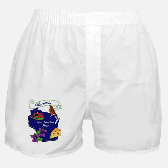 Wisconsin state Boxer Shorts