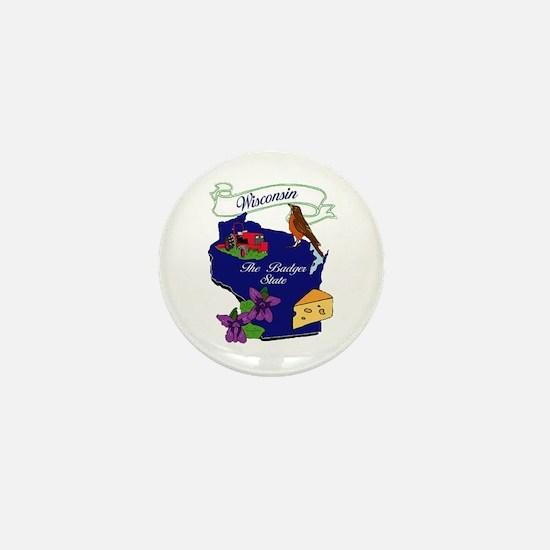 Wisconsin state Mini Button