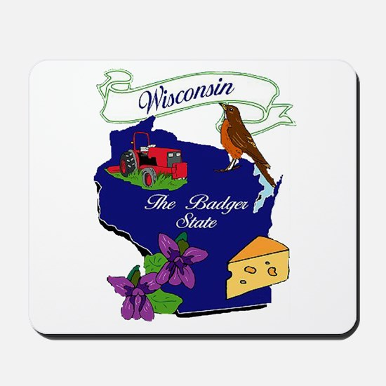 Wisconsin state Mousepad