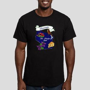 Wisconsin state Men's Fitted T-Shirt (dark)