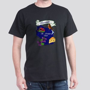 Wisconsin state Dark T-Shirt