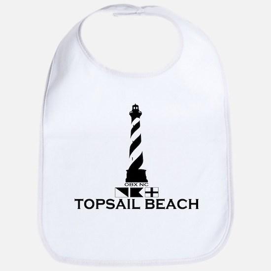 Topsail Beach NC - Lighthouse Design Bib