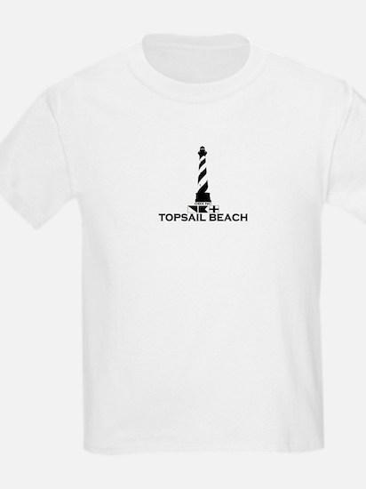 Topsail Beach NC - Lighthouse Design T-Shirt