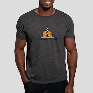 Topsail Island NC - Lighthouse Design Dark T-Shirt
