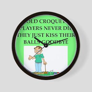 croquet player joke Wall Clock