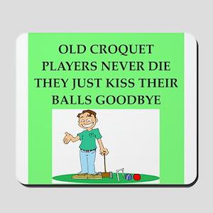 croquet player joke Mousepad