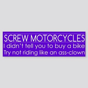Screw Motorcycles Sticker (Bumper)