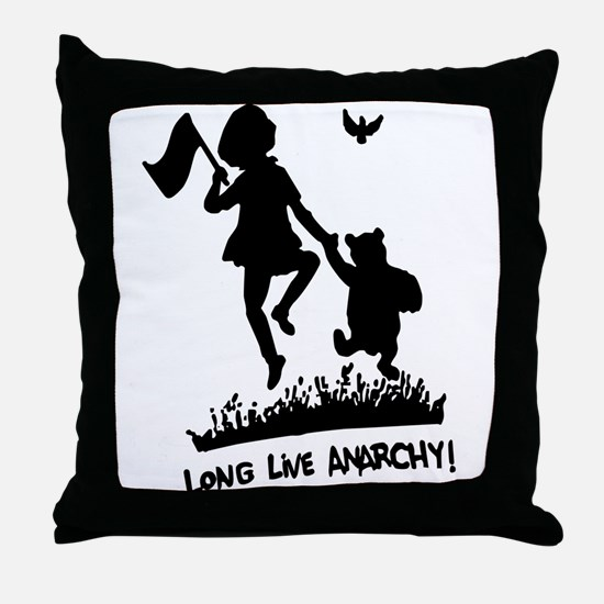 Long Live Anarchy Throw Pillow