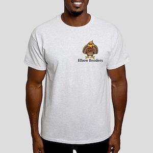 Elbow Benders Logo 13 Light T-Shirt Design Front P