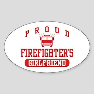 Proud Firefighter's Girlfriend Sticker (Oval)