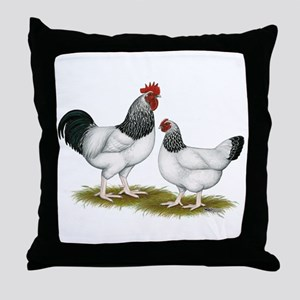 Sussex Light Chickens Throw Pillow