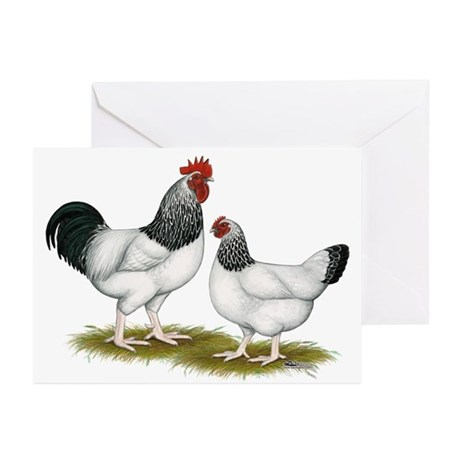 Sussex Light Chickens Greeting Cards (Pk of 10)
