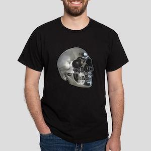Silver Metalic Skull Dark T-Shirt