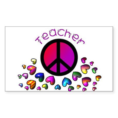 Teachers Sticker (Rectangle 10 pk)