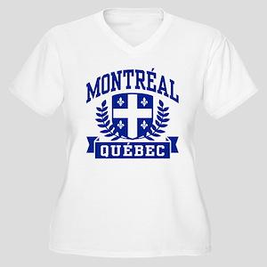 Montreal Quebec Women's Plus Size V-Neck T-Shirt