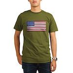 American Flag Organic Men's T-Shirt (dark)