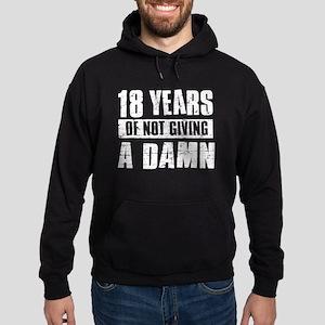 18 years of not giving a damn Hoodie (dark)