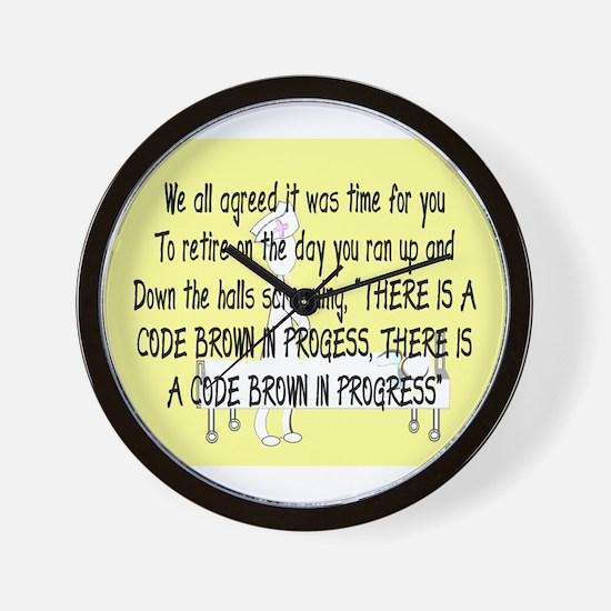 Retired Nurse Story Art Wall Clock