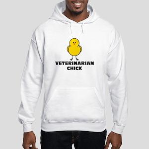 Veterinarian Chick Hooded Sweatshirt