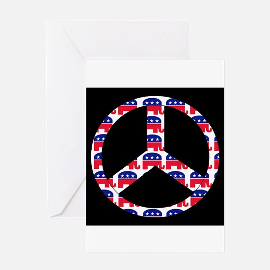 Republican Peace Sign Greeting Card