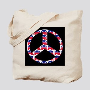 Republican Peace Sign Tote Bag