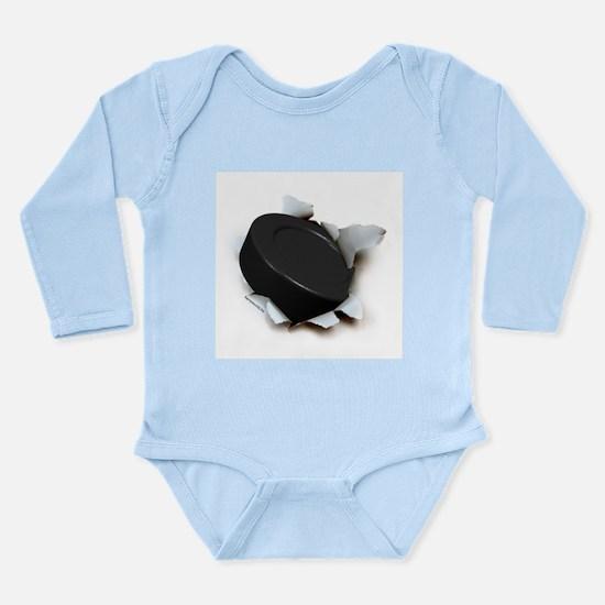 Hockey Burster Long Sleeve Infant Bodysuit