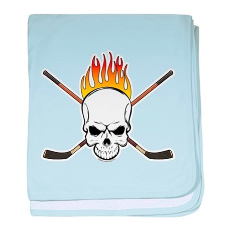 Skull Hockey Infant Blanket