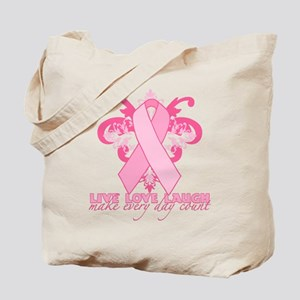 Everyday Pink Ribbon Tote Bag