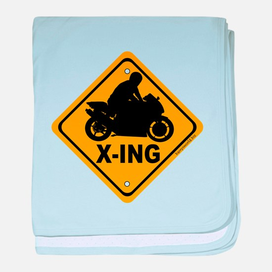 Motorcycle X-ing Infant Blanket