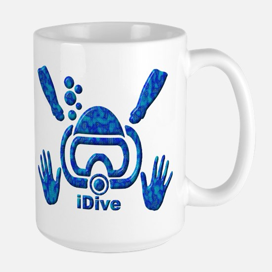 iDive Blue Sea 2010 Large Mug