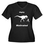 Motivation T Rex and Running Women's Plus Size V-N