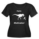 Motivation T Rex and Running Women's Plus Size Sco