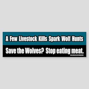 Save The Wolves Vegetarian Bumper Sticker