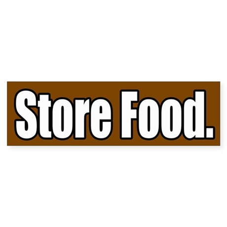 Store Food Bumper Sticker
