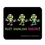 Office Opossums Zombie Mousepad