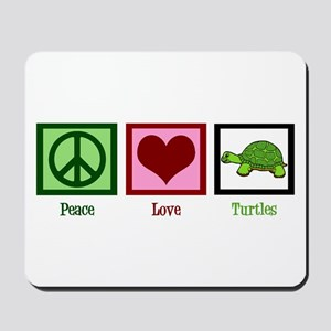 Peace Love Turtles Mousepad