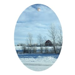 Winter on the Prairies Oval Ornament