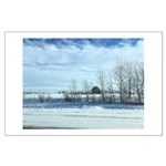 Winter on the Prairies Poster