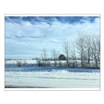 Winter on the Prairies Small Poster