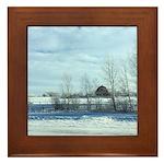 Winter on the Prairies Framed Tile