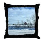 Winter on the Prairies Throw Pillow