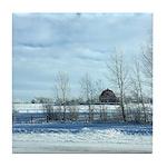 Winter on the Prairies Tile Coaster