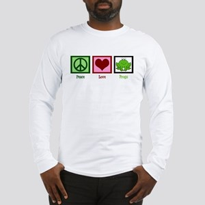 Peace Love Frogs Long Sleeve T-Shirt