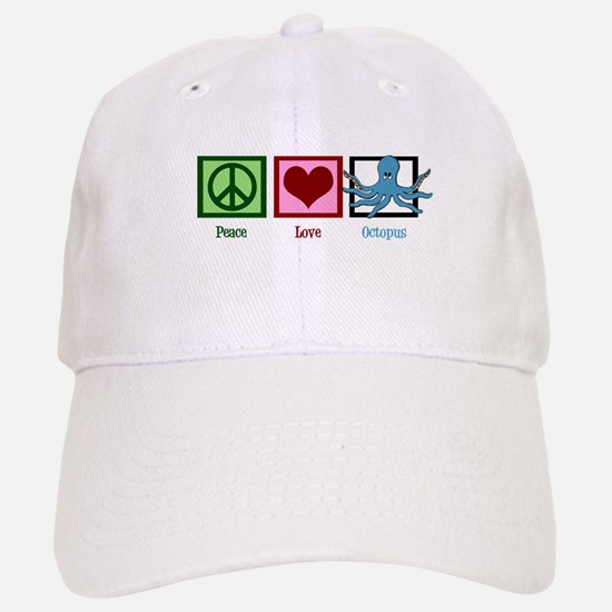 Peace Love Octopus Baseball Baseball Cap