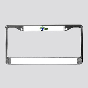 Go Green Frankensteing Body License Plate Frame