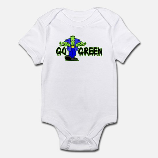Go Green Frankensteing Body Infant Bodysuit